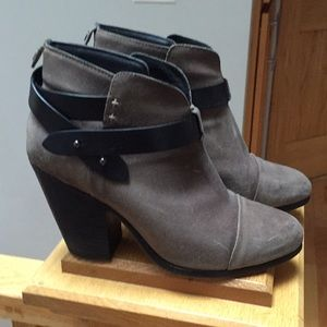 Rag and Bone Harrow Cap-Toe High - Heel Booties.